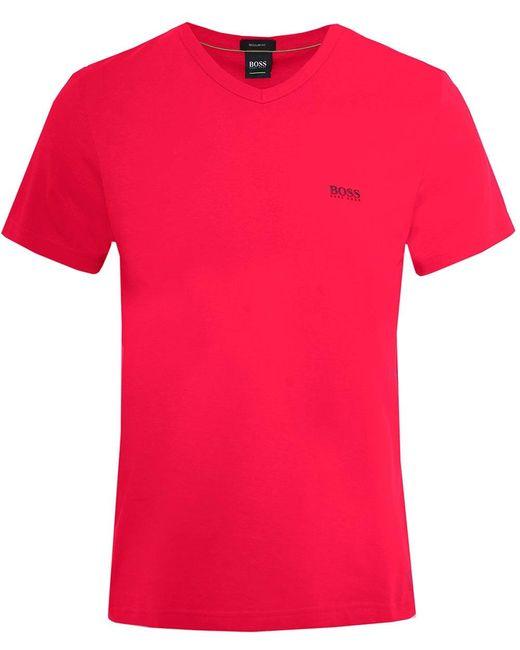 BOSS - Pink Regular Fit V-neck Teevn T-shirt for Men - Lyst