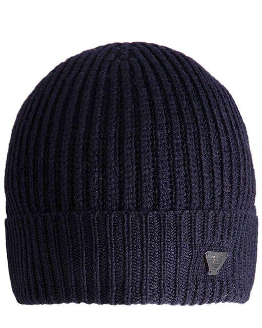 Armani Jeans | Blue Wool Beanie Hat for Men | Lyst