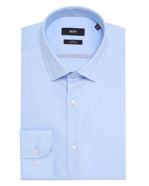 BOSS - Blue Slim Fit Jerris Shirt for Men - Lyst