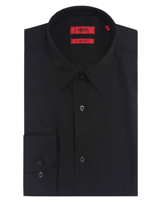 HUGO - Black Extra Slim Fit Elisha01 Shirt for Men - Lyst