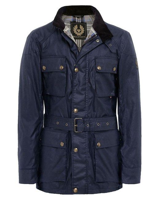 Belstaff - Blue Waxed Roadmaster Jacket for Men - Lyst
