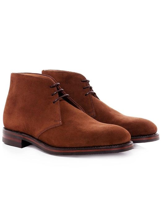 Loake - Brown Suede Kempton Chukka Boots for Men - Lyst