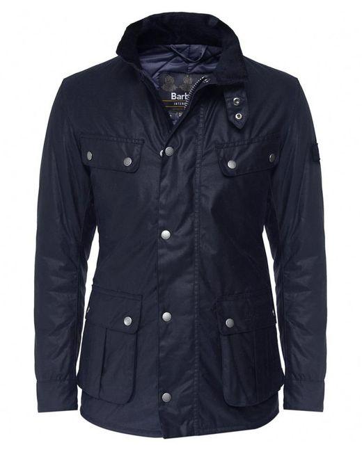 Barbour Blue Waxed Duke Jacket for men