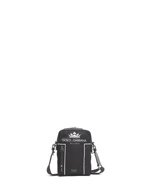 ... Dolce Gabbana - Black Logo Crossbody Bag for Men - Lyst ... new product  ... 1c2de8ad46
