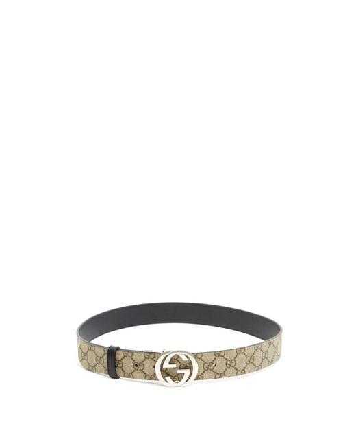 a4d116fda70 ... Gucci - Multicolor  GG Supreme  Belt for Men - Lyst
