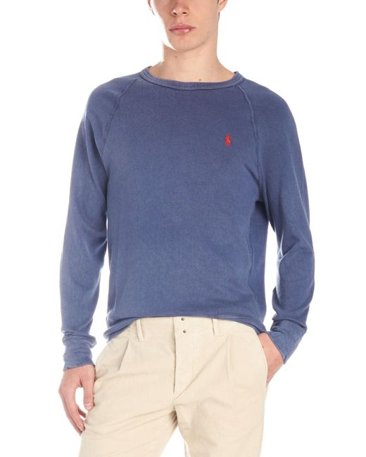 3be7d958 Lyst - Polo Ralph Lauren 'polo Player' Sweatshirt in Blue for Men
