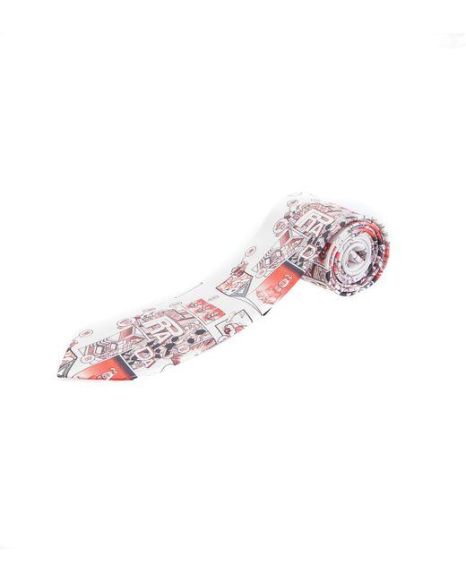 Prada - Multicolor Totem Rosa Twill Tie for Men - Lyst