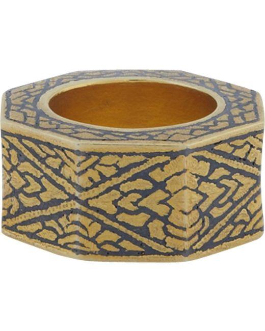 Royal Thai | Metallic Thai Beveled Ring | Lyst