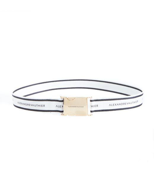 Alexandre Vauthier - White Striped Belt - Lyst