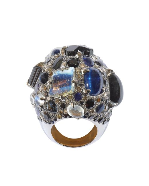 Sylvie Corbelin - Metallic Black Multi Gemstone Ring - Lyst