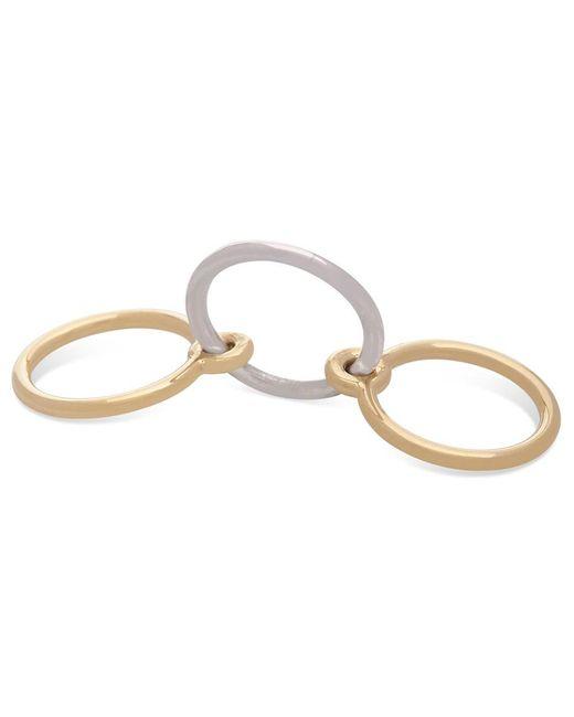 Charlotte Chesnais - Metallic Three Lovers Linked Ring - Lyst