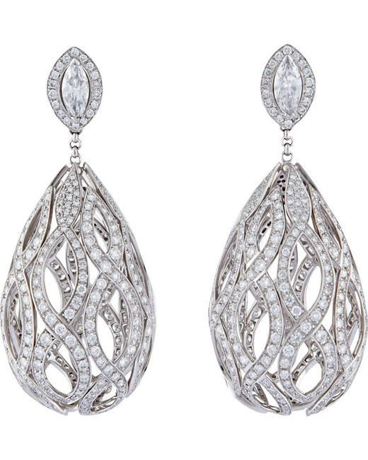 Wilfredo Rosado | Yellow 18k White Gold Cage Chandelier Earrings With Diamonds | Lyst