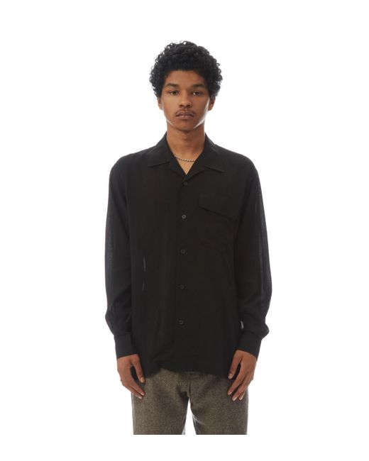 Yohji Yamamoto - Black Button Down Shirt for Men - Lyst