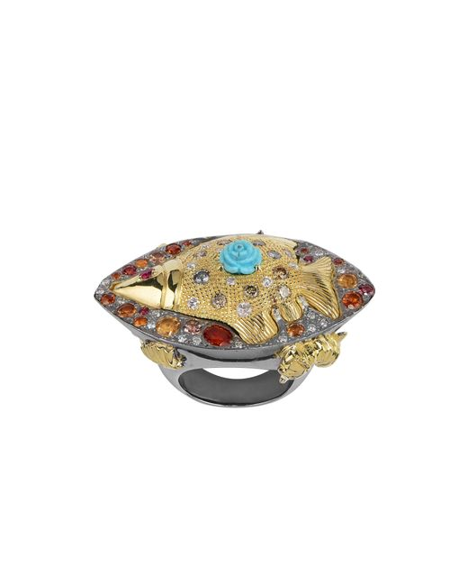 Sylvie Corbelin - Metallic Poisson Polisson Fish Ring - Lyst