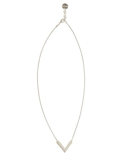Karen Millen | Metallic The Angle Crystal Pendant - Km | Lyst