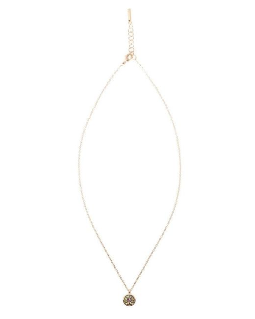 Karen Millen | Metallic Crystal Dot Necklace - Rose Gold | Lyst