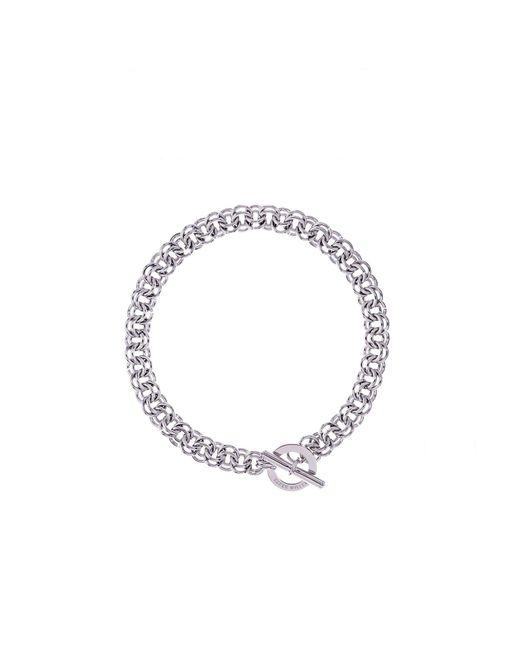 Karen Millen - Metallic Encrusted Bar & Hoop Bracelet - Km - Lyst