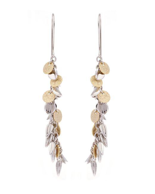 Karen Millen - Metallic Sunset Drama Drop Earrings - Lyst