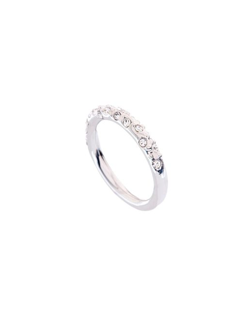 Karen Millen - Metallic Crystal Sprinkle Ring - Km - Lyst