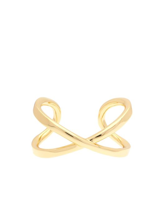 Karen Millen - Metallic Criss-cross Bangle - Gold Color - Lyst