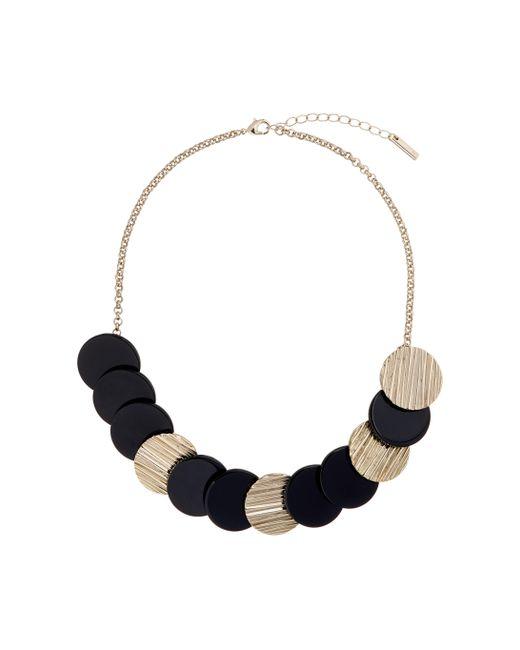 Karen Millen - Blue Textured Disc Necklace - Lyst