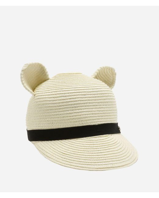 Karl Lagerfeld - Natural Cat Ears Straw Cap - Lyst