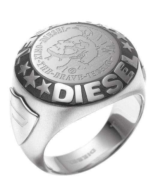 DIESEL - Metallic Ring for Men - Lyst