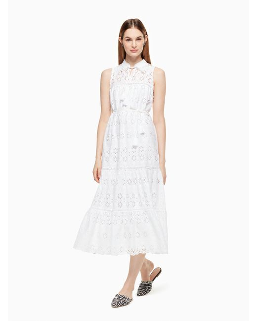 Kate Spade | White Eyelet Patio Dress | Lyst