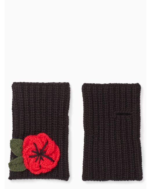 Kate Spade   Black Crochet Poppy Armwarmers   Lyst