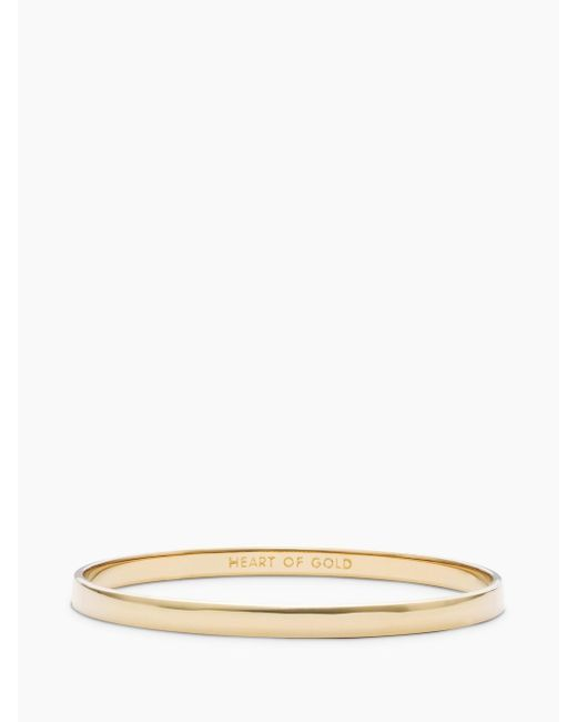 Kate Spade - Metallic Heart Of Gold Idiom Bangle - Lyst