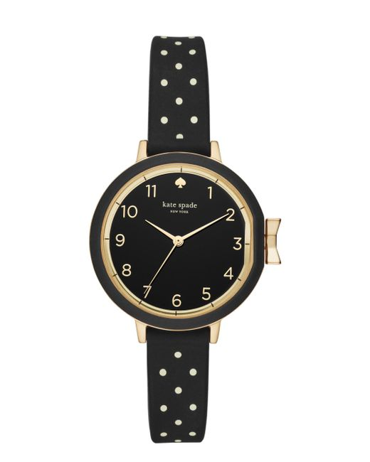 Kate Spade - Multicolor Polka Dot Silicone Park Row Watch - Lyst