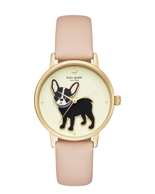 Kate Spade - Metallic Metro Grand Antoine Vachetta Leather Watch - Lyst