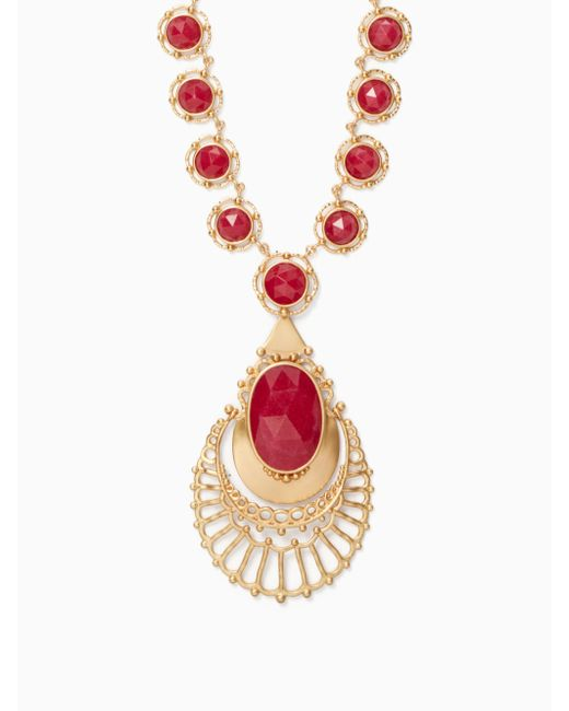 Kate Spade   Red On The Rocks Statement Necklace   Lyst