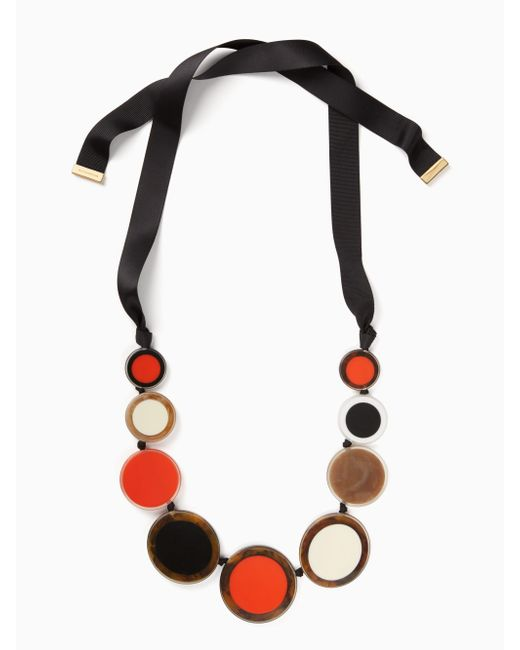 Kate Spade | Blue Connect The Dots Statement Necklace | Lyst