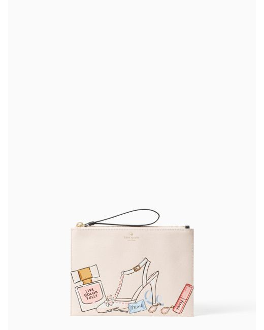 Kate Spade - Multicolor Wedding Belles This Is The Life Medium Bella Pouch - Lyst