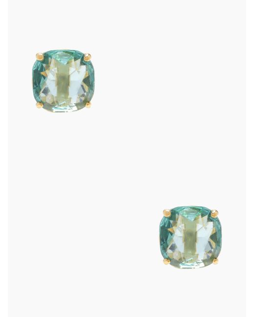 Kate Spade - Blue Kate Spade Small Square Studs - Lyst