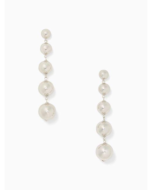 Kate Spade | Metallic Golden Girl Linear Statement Earrings | Lyst