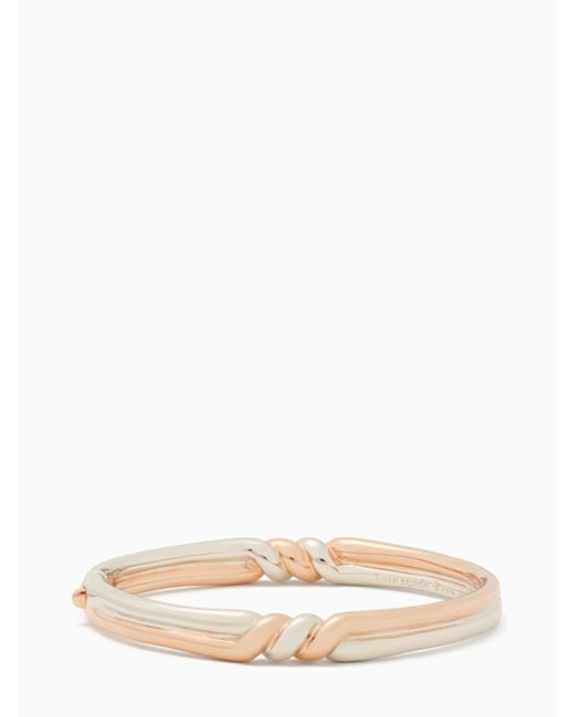 Kate Spade - Multicolor Heavy Metals Twist Bangle - Lyst