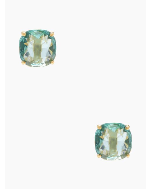 Kate Spade - Blue Small Square Studs - Lyst