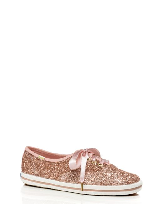 Kate Spade - Pink Keds X New York Glitter Sneakers - Lyst