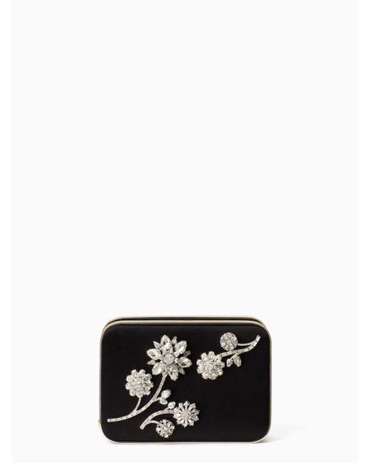 Kate Spade | Metallic Evening Belles Zurie With Flower Gem | Lyst