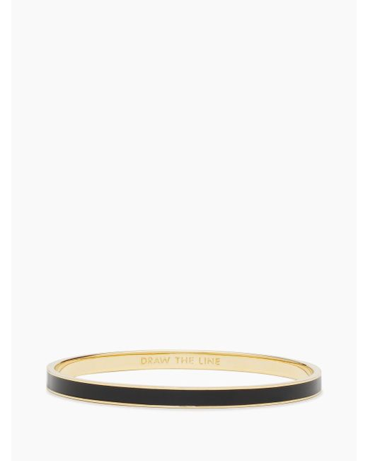 Kate Spade | Black Draw The Line Idiom Bangle | Lyst