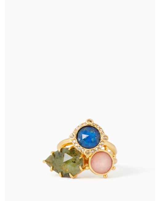 Kate Spade - Multicolor Perfectly Imperfect Stone Ring Set - Lyst