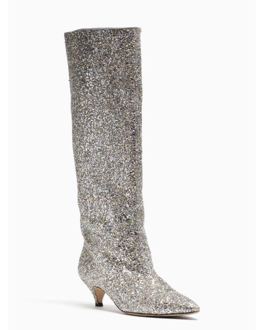 Kate Spade - Metallic Olina Boots - Lyst