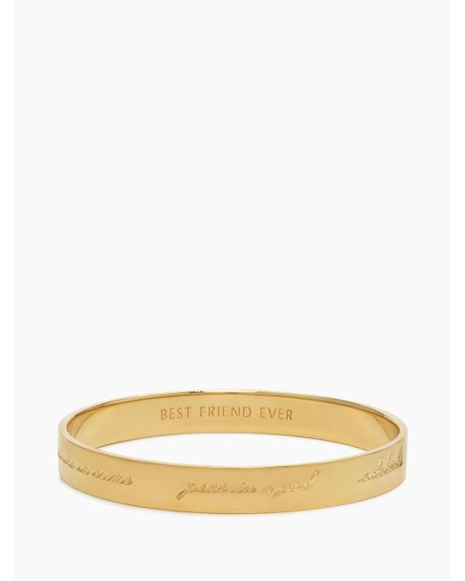 Kate Spade | Metallic Bridesmaid Idiom Bangle | Lyst