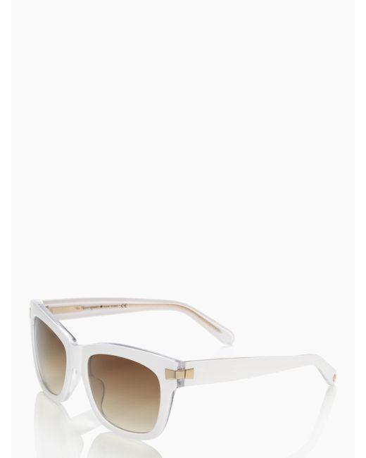 kate spade new york | White Autumn Sunglasses | Lyst