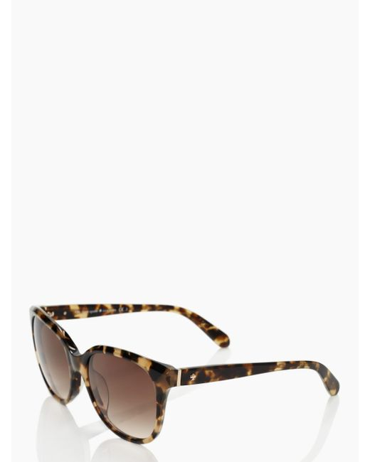 kate spade new york | Brown Bayleigh Sunglasses | Lyst