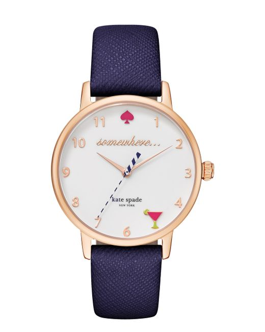 kate spade new york | Blue 5 O'clock Metro Watch | Lyst