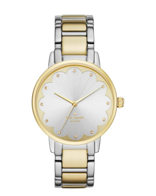 kate spade new york | Metallic Two-tone Scallop Gramercy Watch | Lyst