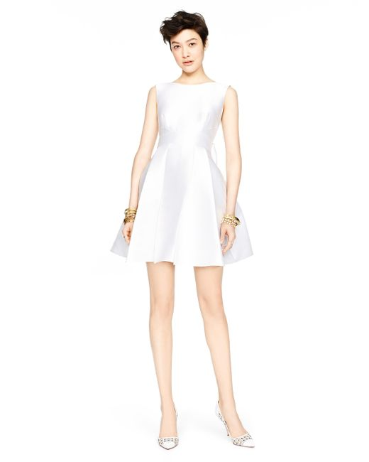 Kate Spade | White Open Back Silk Mini Dress | Lyst